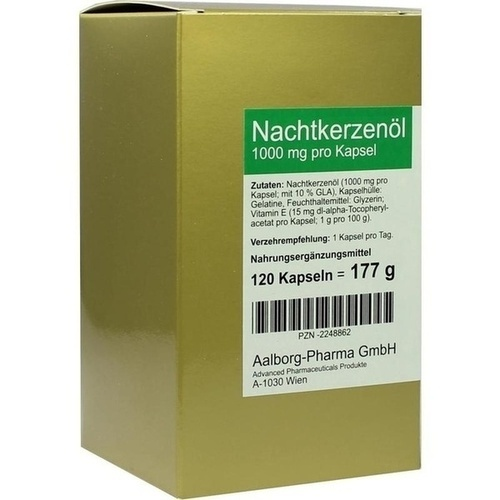 Nachtkerzenöl 1000mg pro Kapsel, 120 ST, Advanced Pharmaceuticals GmbH