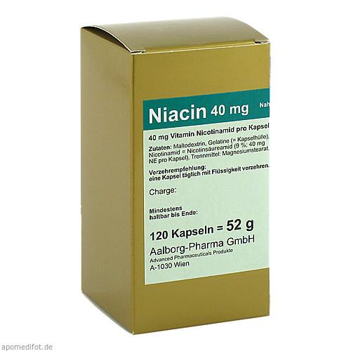 Niacin 40mg pro Kapsel, 120 ST, Advanced Pharmaceuticals GmbH