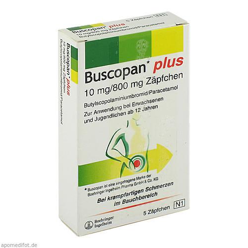 BUSCOPAN plus Suppositorien, 5 ST, MTK-Pharma Vertriebs-GmbH