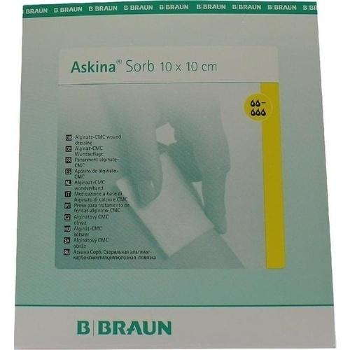 Askina Sorb ster.Alginat-CMC-Wundauflage 10x10cm, 10 ST, B. Braun Melsungen AG