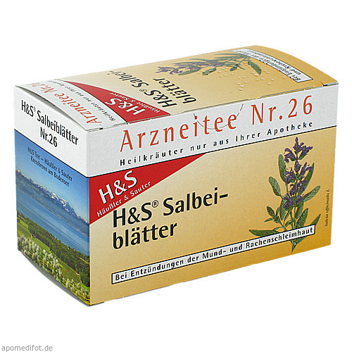 H&S SALBEIBLAETTERTEE, 20X1.6 G, H&S Tee - Gesellschaft mbH & Co.
