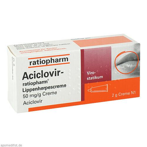 Aciclovir-ratiopharm Lippenherpescreme, 2 G, ratiopharm GmbH
