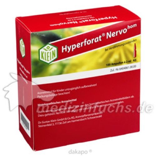 Hyperforat Nervohom, 100X2 ML, Dr. Gustav Klein GmbH & Co. KG
