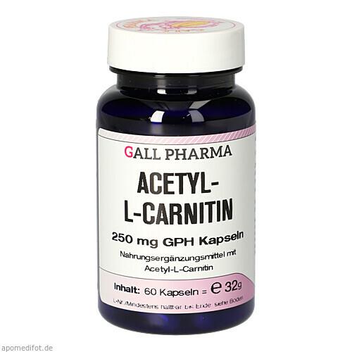 ACETYL-L-CARNITIN 250mg Kapseln, 60 ST, Hecht-Pharma GmbH