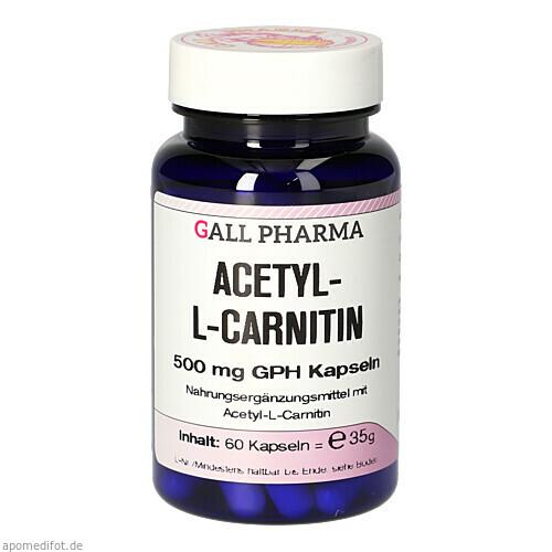 ACETYL-L-CARNITIN 500mg Kapseln, 60 ST, Hecht-Pharma GmbH