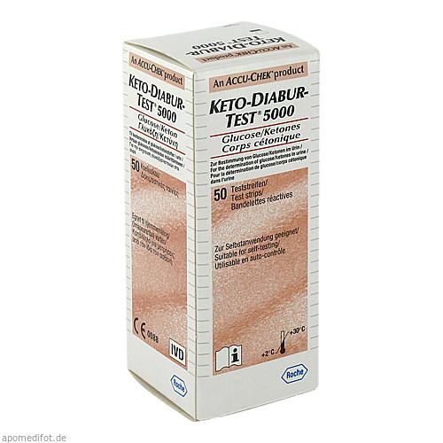 KETO Diabur Test 5000 Teststreifen, 50 ST, Roche Diabetes Care Deutschland GmbH