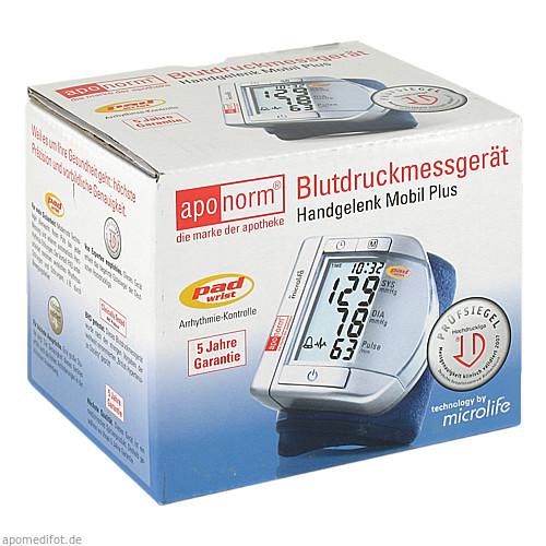 Aponorm Blutdruckmessgeraet Mobil Plus Handgelenk, 1 ST, WEPA Apothekenbedarf GmbH & Co KG