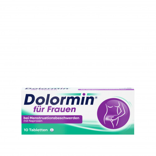 Dolormin f.Frauen bei Menstr.beschw. m. Naproxen, 10 ST, Johnson & Johnson GmbH (Otc)