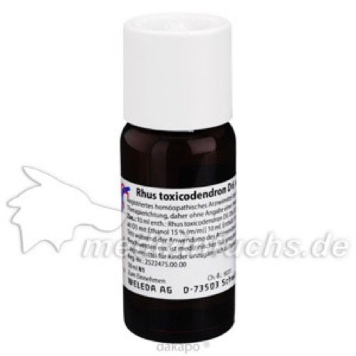 RHUS TOXICODENDRON D 6 Dilution, 50 ML, WELEDA AG