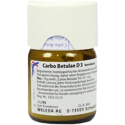 CARBO BETULAE D 3, 50 G, Weleda AG