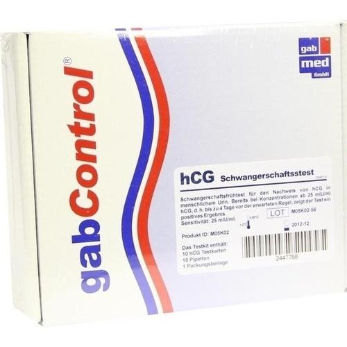 HCG Schwangerschafts Test Testkarte, 10 ST, Gabmed GmbH