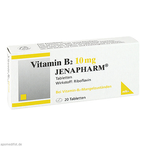VITAMIN B 2 10MG JENAPHARM, 20 ST, Mibe GmbH Arzneimittel