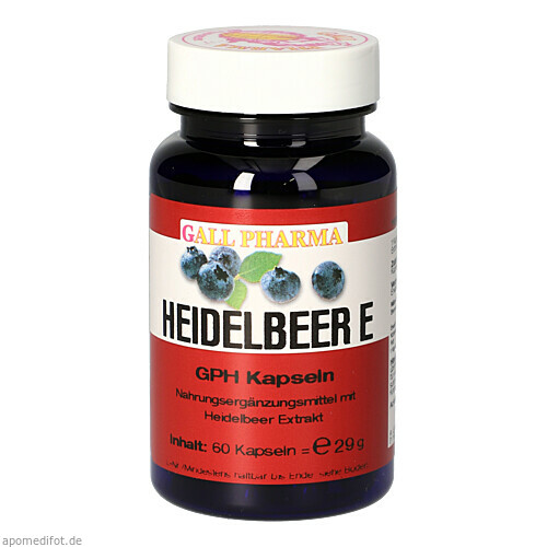 Heidelbeer E 400mg, 60 ST, Hecht-Pharma GmbH