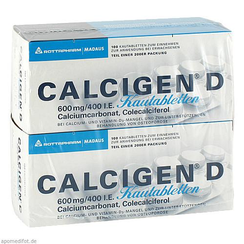 Calcigen D Kautabletten, 200 ST, MEDA Pharma GmbH & Co.KG