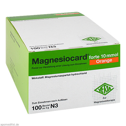 Magnesiocard forte 10 mmol Orange, 100 ST, Verla-Pharm Arzneimittel GmbH & Co. KG
