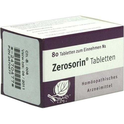 Zerosorin Tabletten, 80 ST, Schuck GmbH Arzneimittelfabrik