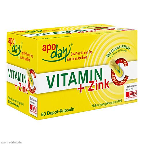 Vitamin C + Zink Depot Kapseln, 60 ST, Wepa Apothekenbedarf GmbH & Co. KG