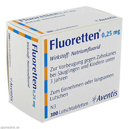 FLUORETTEN 0.25MG, 300 ST, Zentiva Pharma GmbH