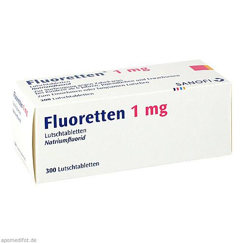 FLUORETTEN 1.0MG, 300 ST, Sanofi-Aventis Deutschland GmbH