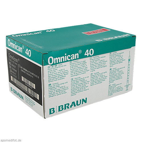 OMNICAN 40 INS KAN SPR 1ML, 100 ST, B. Braun Melsungen AG