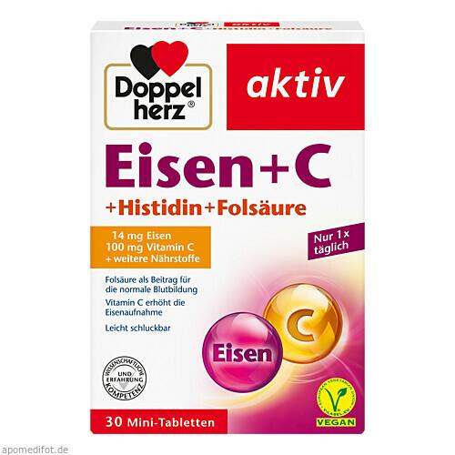 Doppelherz Eisen+Vit.C+L-Histidin, 30 ST, Queisser Pharma GmbH & Co. KG