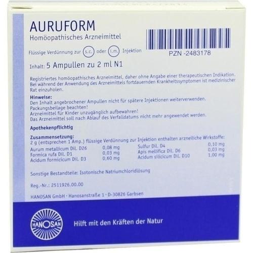 AURUFORM, 5X2 ML, Hanosan GmbH