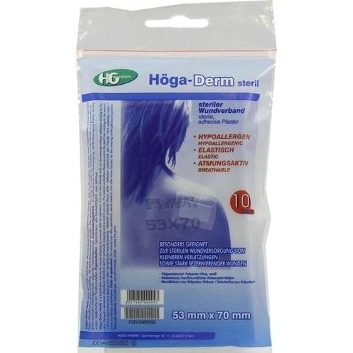 Hoega-Derm steriles Pflaster 53mmx70mm, 10 ST, Höga-Pharm G.Höcherl