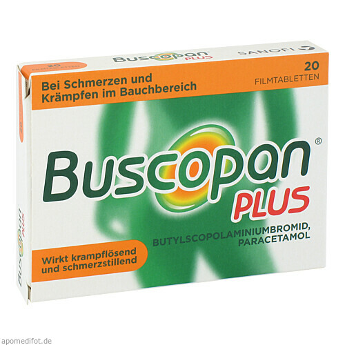 BUSCOPAN PLUS, 20 ST, Sanofi-Aventis Deutschland GmbH