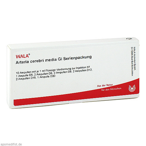 Arteria cerebri media Gl Serienpackung, 10X1 ML, Wala Heilmittel GmbH