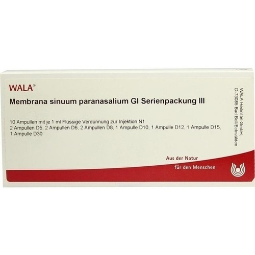 Membrana sinuum paranasal. Gl Serienpackung III, 10X1 ML, Wala Heilmittel GmbH