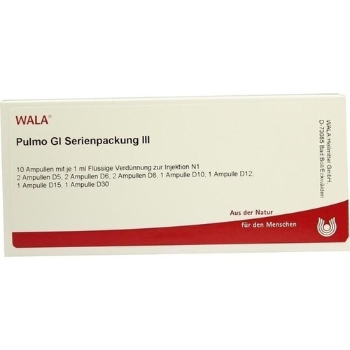 Pulmo Gl Serienpackung III, 10X1 ML, Wala Heilmittel GmbH