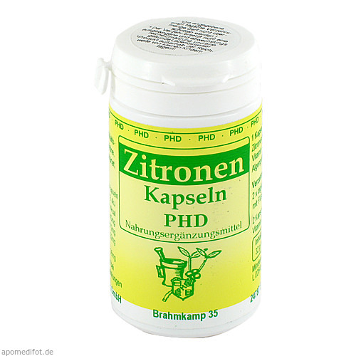 Zitronen Kapseln, 60 ST, Pharmadrog GmbH