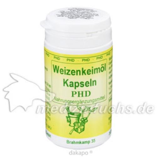 Weizenkeimöl Kapseln, 100 ST, Pharmadrog GmbH