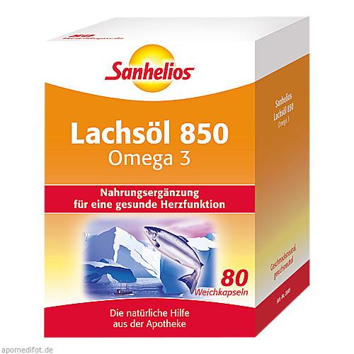 Sanhelios Lachsöl 850 Omega 3, 80 ST, Börner GmbH