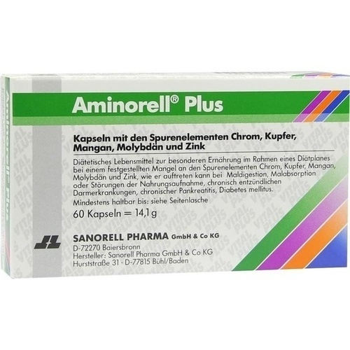 Aminorell Plus, 60 ST, sanorell pharma GmbH & Co KG