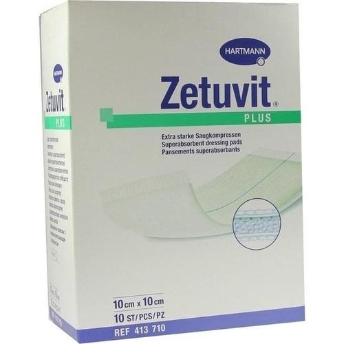 Zetuvit Plus extrastarke Saugkompr steril10x10cm, 10 ST, Paul Hartmann AG