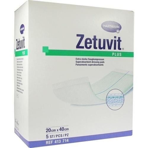 ZETUVIT Plus extrastarke Saugkompr.steril 20x40 cm, 5 ST, Paul Hartmann AG
