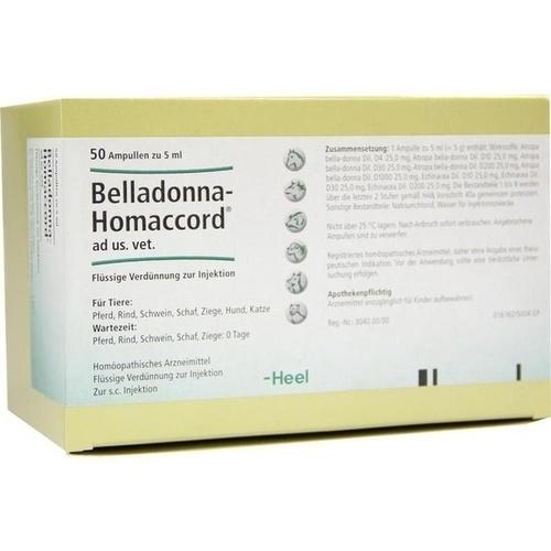 BELLADONNA HOMACCORD ad us.vet.Ampullen, 50 ST, Biologische Heilmittel Heel GmbH