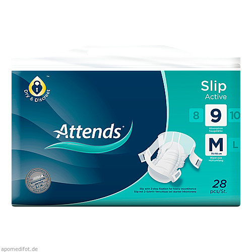 Attends Slip Active 9 Medium, 28 ST, Attends GmbH