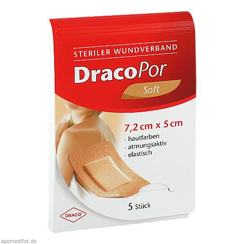 Dracopor Wundverband steril hautfarben ster5x7.2cm, 5 ST, Dr. Ausbüttel & Co. GmbH