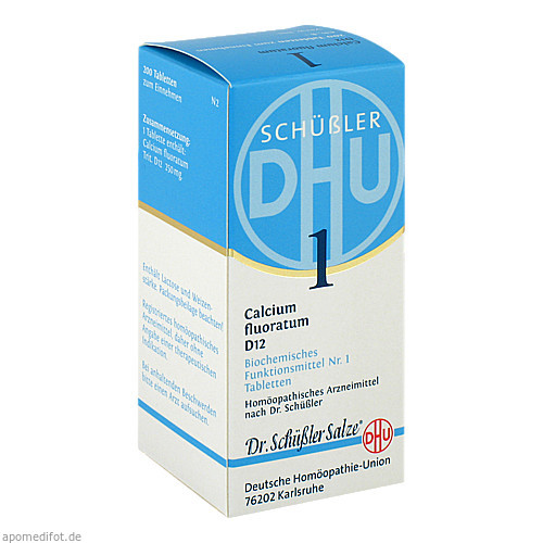 BIOCHEMIE DHU 1 CALCIUM FLUORATUM D12, 200 ST, Dhu-Arzneimittel GmbH & Co. KG