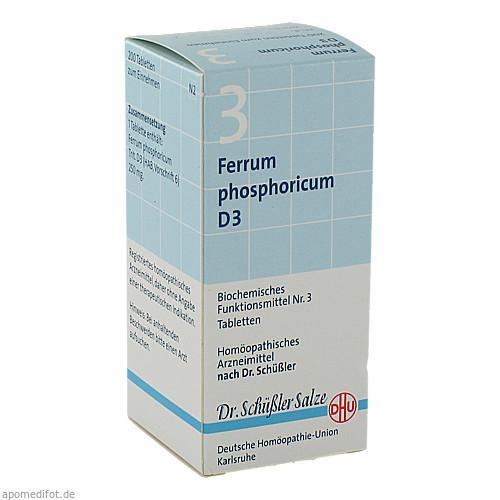 BIOCHEMIE DHU 3 FERRUM PHOSPHORICUM D 3, 200 ST, Dhu-Arzneimittel GmbH & Co. KG