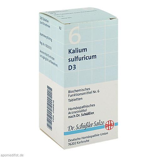 BIOCHEMIE DHU 6 KALIUM SULFURICUM D 3, 200 ST, Dhu-Arzneimittel GmbH & Co. KG