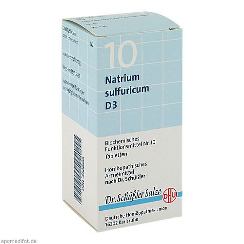 BIOCHEMIE DHU 10 NATRIUM SULFURICUM D 3, 200 ST, Dhu-Arzneimittel GmbH & Co. KG