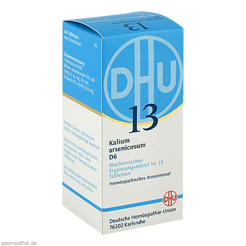 BIOCHEMIE DHU 13 KALIUM ARSENICOSUM D 6, 200 ST, Dhu-Arzneimittel GmbH & Co. KG
