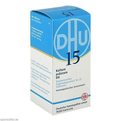 BIOCHEMIE DHU 15 KALIUM JODATUM D 6, 200 ST, Dhu-Arzneimittel GmbH & Co. KG