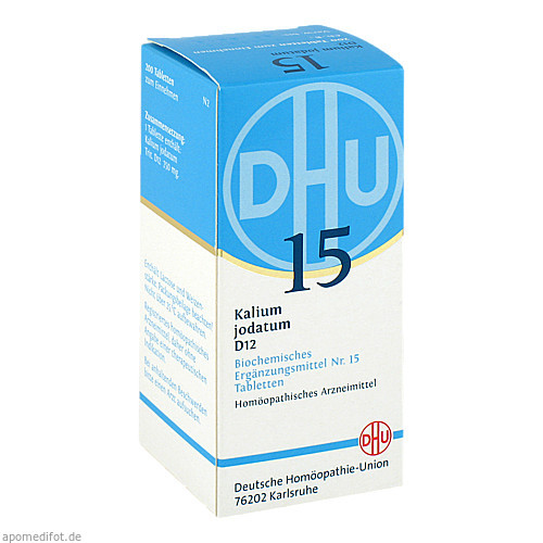 BIOCHEMIE DHU 15 KALIUM JODATUM D12, 200 ST, Dhu-Arzneimittel GmbH & Co. KG