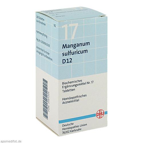 BIOCHEMIE DHU 17 MANGANUM SULFURICUM D12, 200 ST, Dhu-Arzneimittel GmbH & Co. KG