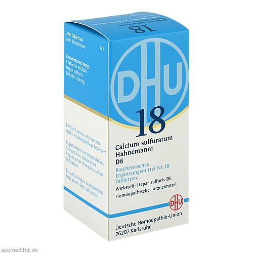 BIOCHEMIE DHU 18 CALCIUM SULFURATUM HAHNEMANNI D 6, 200 ST, Dhu-Arzneimittel GmbH & Co. KG