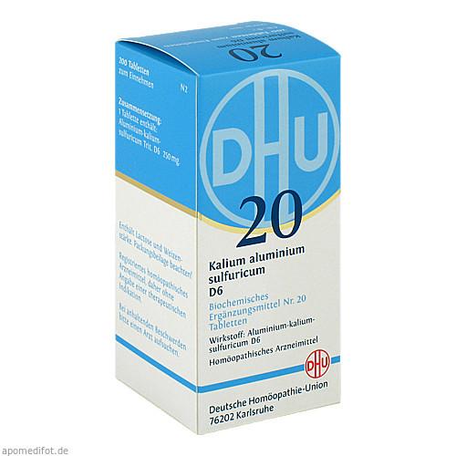 BIOCHEMIE DHU 20 KALIUM ALUMINIUM SULFURICUM D6, 200 ST, Dhu-Arzneimittel GmbH & Co. KG
